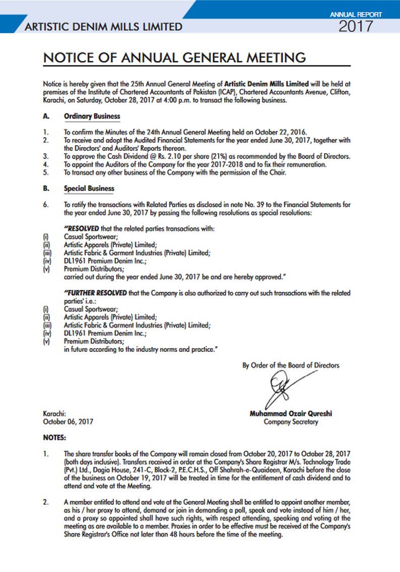 notice sixteenth annual general meeting of Notice of the 28th annual general meeting notice is hereby given that the 28th annual general meeting  before the meeting of the board of directors held on 16th april, 2018, the details of which are given in the explanatory  declared at the ensuing annual general meeting, will be.